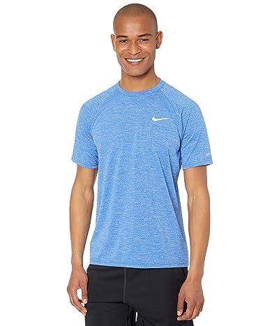 Nike Heather Short Sleeve Hydroguard (Game Royal) Men