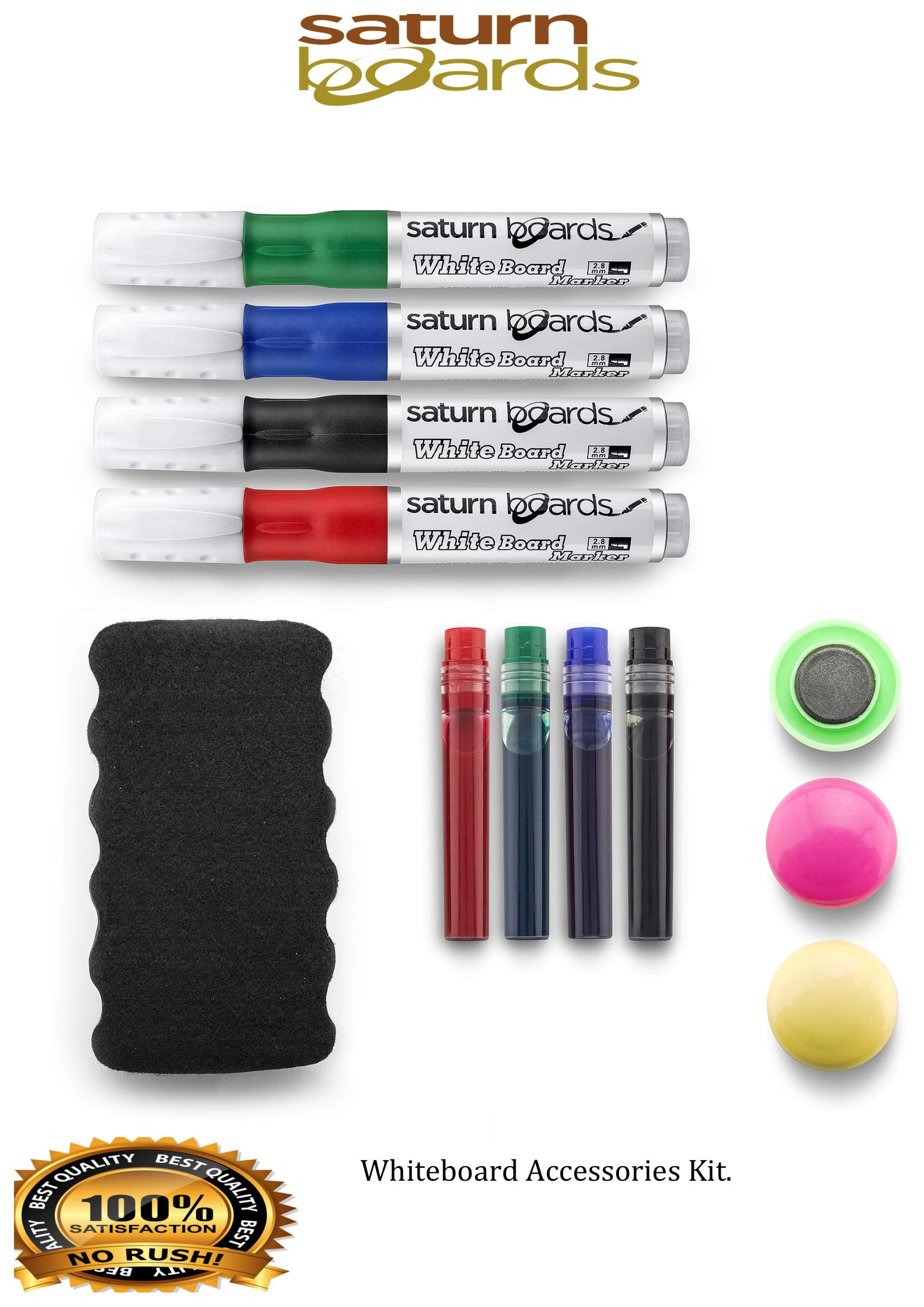 dry wipe black, red, green, blue non-permanent Be!Board B3002 Glass board Marker // pen for whiteboards and magnetic boards assorted colours set of 4 round tip 2-3 mm