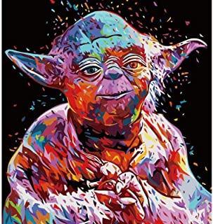 DIY Oil Painting by Numbers Kit for Kids and Adults Beginner, Star Wars Figure Pictures Acrylic Painting On Canvas,Sofa Ba...