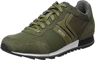 BOSS Herren Parkour Runn Sneakers im Laufschuh-Stil aus Veloursleder und Mesh Größe