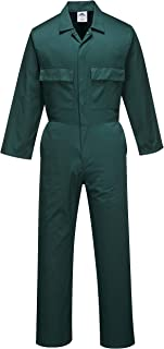Portwest S999BGRM Euro Work Boilersuit, Fabric, Medium, Bottle Green