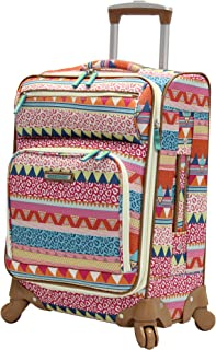 Carry On Expandable Design Pattern Luggage With Spinner Wheels (20in, On the Prowl)