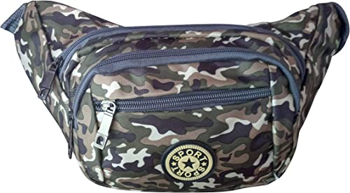 Military Fanny Bag Chest Bag Waist Pack Travel Pouch Waist Bag With Adjustable Strap Sports Pockets Men Women Nylon Multi Colour