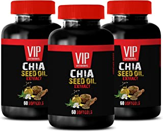Brain and Memory Enhancement Pills - CHIA Seed Extract Oil - chia Seed Oil softgels - 3 Bottles (180 Softgels)