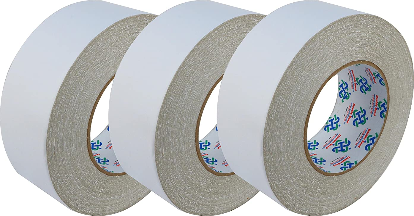 Double Bond Double Sided Carpet Tape, 2-Inch x 30 Yards Pack of 3