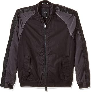 Armani Exchange Men's 3GZB01 Blouson Jacket, Multicolour (Black W/magnet 4237), Small