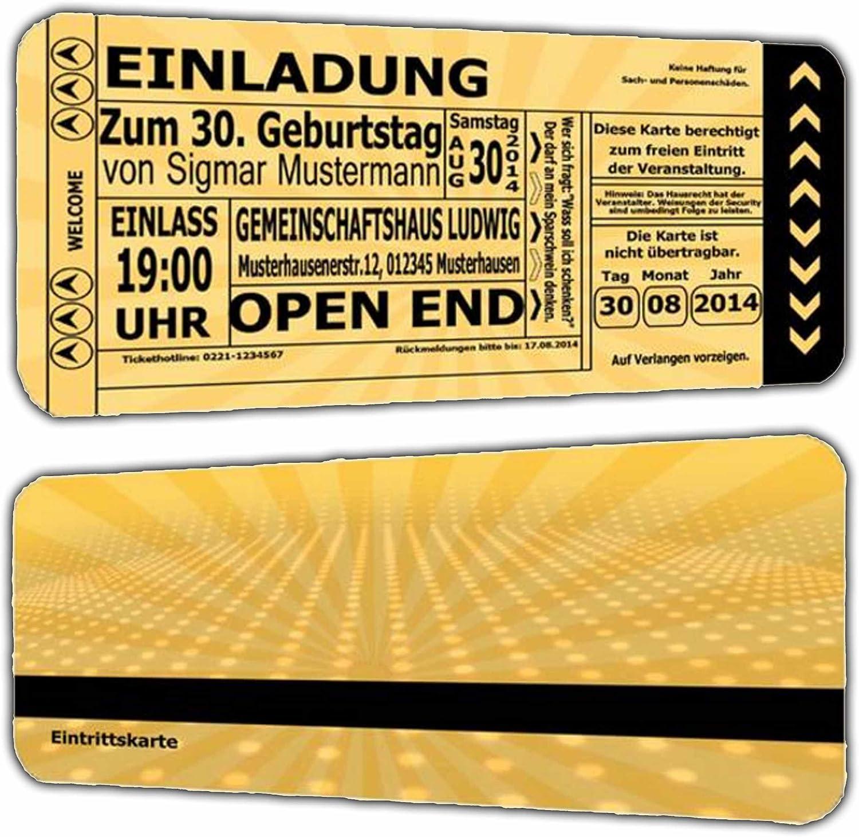 50 x Einladungskarten als Eintrittskarte Eintrittskarte Eintrittskarte Einladung zum Geburtstag Feier Vintage Retro Look - 50 Stück Ticket Jahrgang 1968 1969 Geburtstagseinladung B01EXKS77K  | Starke Hitze- und Abnutzungsbeständigkeit  006d85