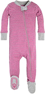 Burt's Bees Baby - Baby Girls Sleeper Pajamas, Zip Front...