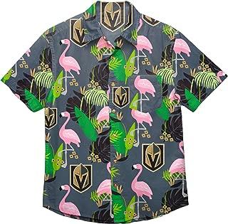 NHL Mens Floral Tropical Button Up Shirt