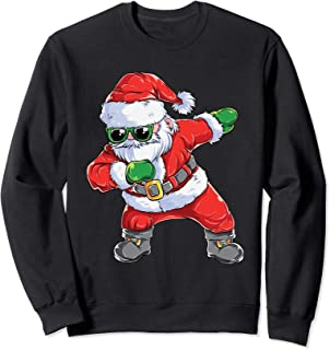 Dabbing Santa Claus Christmas Kids Boys Girls Dab Xmas Dance Sweatshirt