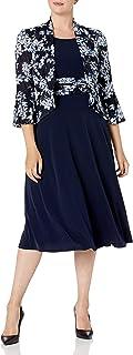 Jessica Howard womens Bell Sleeve Jacket Dress with Inset Waist Casual Dress