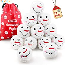teytoy My First Snowball Fight, Plush Snowmen Balls with Bag for Kids & Adults Anytime ,Christmas Party Decoration, Smile ...