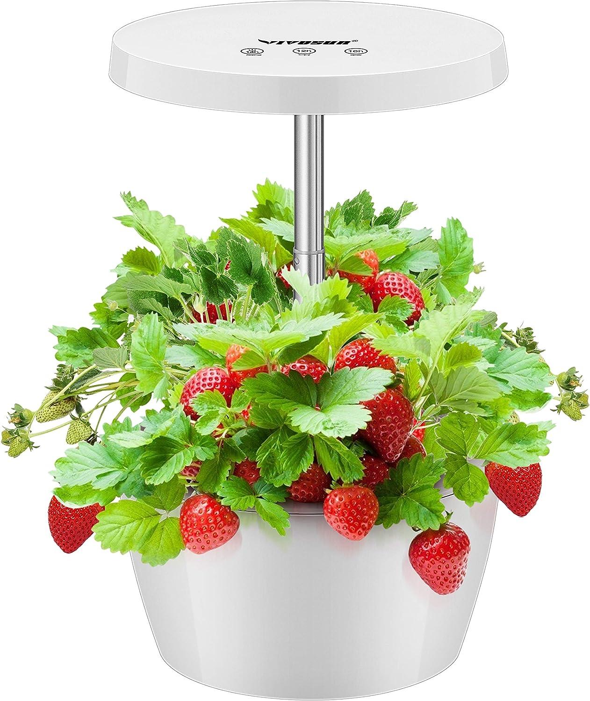 VIVOSUN Indoor Herb Garden Kit Hydroponics Growing System Hydroponics Growing Nutrient Pot Kit(Plant Food Included)