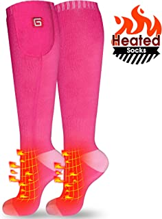 IFWATER Electric Heated Socks for Women Men, Rechargeable Electric Socks Battery Heated Socks Foot Warmer for Chronically Cold Foot, Great for Skiing Hiking Motorcycling Warm Winter Socks