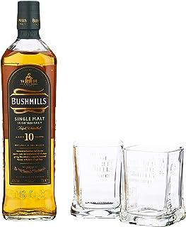 Bushmills Single Malt Irish Whiskey 10 Years Old mit Geschenkverpackung mit 2 Gläsern 1 x 0.7 l