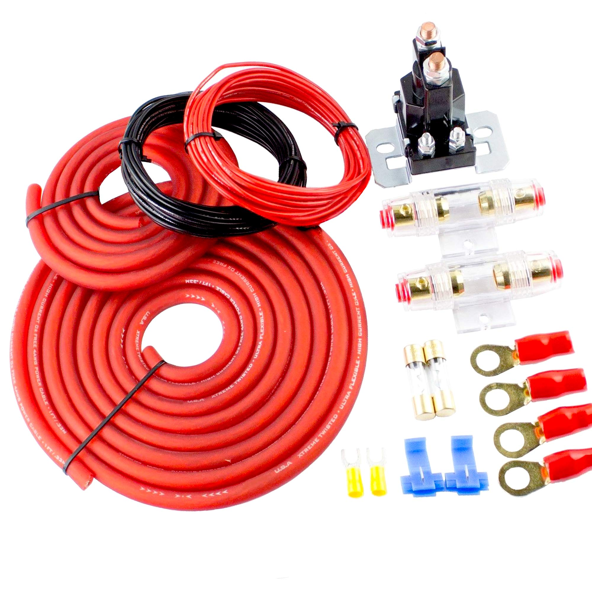 [DIAGRAM_38EU]  Amazon.com: Amplifier Wiring kit Gauge amp Car Audio Type W Fuses  Subwoofers Speakers AMP Dual Auxiliary Battery Isolator Chargers Cables  Power Ground Cable: Car Electronics | Car Audio Battery Wiring |  | Amazon.com