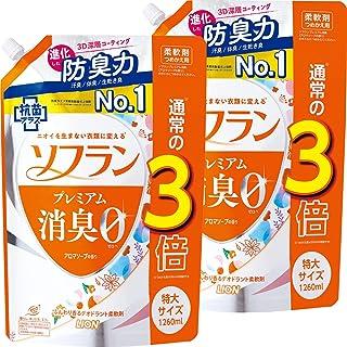 Soflan Premium Deodorizing Aroma Soap Scent, Fabric Softener Refill, Extra Large, 46.9 fl oz (1,260 ml) x 2 Set