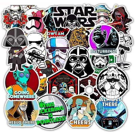 50pcs Star Wars Skateboard Stickers B Vinyl Laptop Luggage Decals For VSCO Girl