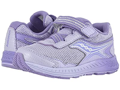 Saucony Kids Ride 10 Jr (Toddler/Little Kid) (Purple Leather/Mesh) Girls Shoes