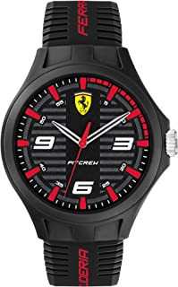 Scuderia Ferrari Pit Crew Analog Black Dial Men's Watch-0830778