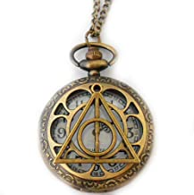 Blue Heron Harry Potter Deadly Hallows Watch 18 Inch Necklace w/Gift Box