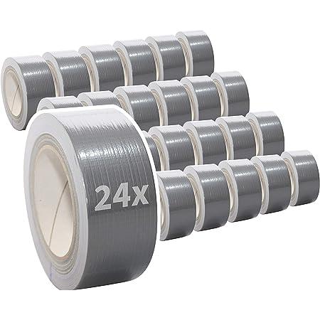 20x Gewebeband Panzerband Gewebeklebeband Ducttape Steinband Reparaturband Reparaturklebeband 50mm x 50m Silber Silver Extra Stark Power Panzertape
