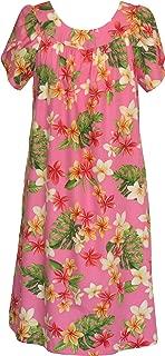 RJC Women's Yellow Plumeria Muumuu Dress