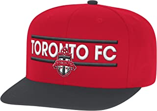 adidas MLS Toronto Fc Men's Dassler Flat Brim Snapback Hat, One Size, Red