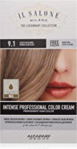 Il Salone Milano Professional Permanent Color Kit - 9.1 Light Iced Blonde - 100% Gray Coverage Hair Dye - Paraffin Free - Ethyl Alcohol Free - Moisturizing Oils