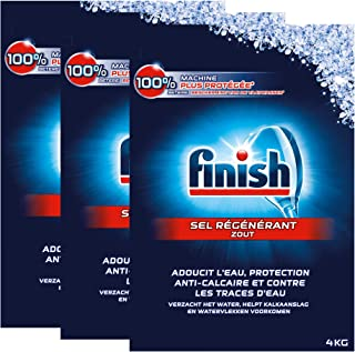 Finish - Sal regenerados para lavavajillas, 4kg, 3 unidades