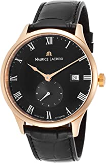Maurice Lacroix Men's Masterpiece Automatic Black Crocodile and Dial 18K Rose Gold Case