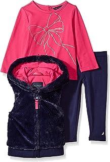 Nautica Baby Girls Three Piece Vest Sets