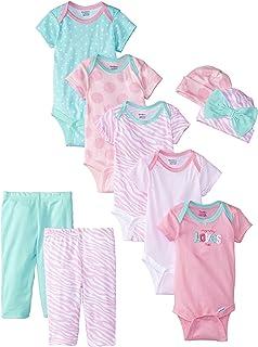 Gerber Baby Girls' 9 Piece Playwear Bundle