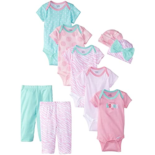 Gerber Baby Girls 9 Piece Playwear Bundle