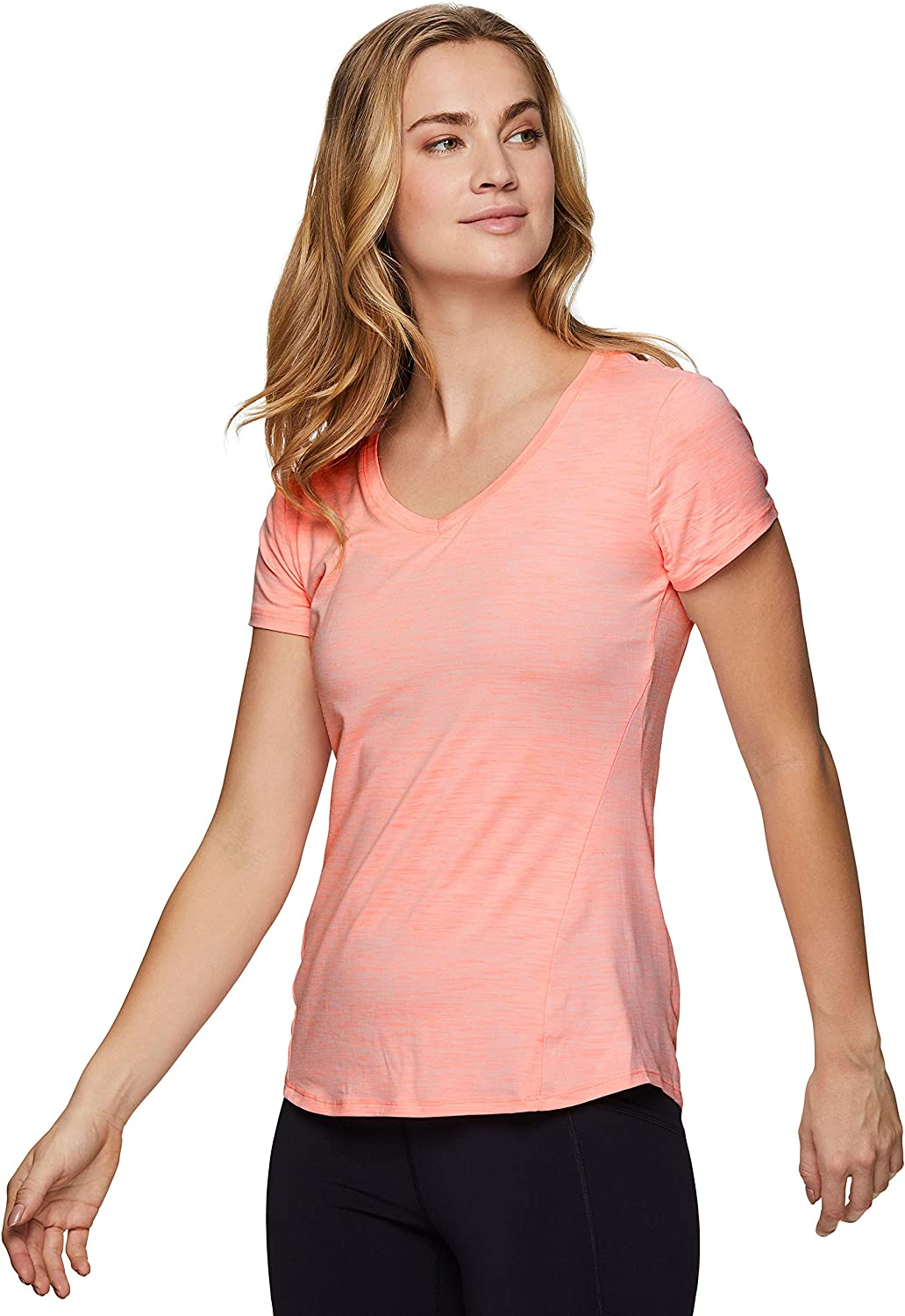 In stock RBX Active Women's Athletic Quick Lowest price challenge Dry Sleeve Space Dye Yog Short