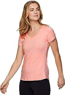 RBX Active Women's Space Dye Short Sleeve V-Neck Tee Shirt