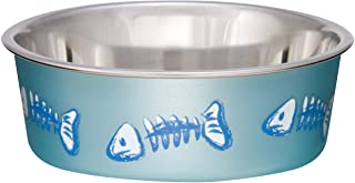 وعاء فيش بيلا للقطط من لافينج بتس، قياس XS، لون أزرق بحري معدني