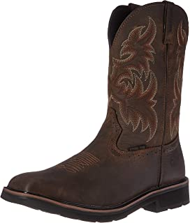 "Wolverine Men's Rancher 10"" Square Toe Steel Toe Work Boot"