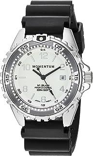 Momentum`s Unisex M1 Splash Watch | 200m / 660 ft Water Resistant | Rotating Dive Bezle| Black Band