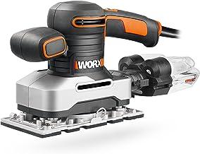 Worx WX642.1 Vlakschuurmachine - Elektrisch professioneel schuurgereedschap met 270W - Incl. schuurpapier & koffer - Groot...