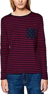 edc by Esprit dames shirt met lange mouwen 019CC1K009