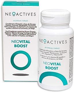 NeoVital Boost | Ginseng coreano. eleuterococo. guaraná. vitamina C y Vitamina B5 | Ayuda a disminuir el cansancio y la fatiga | Complemento concentrado. solo 1 capsula día (30)