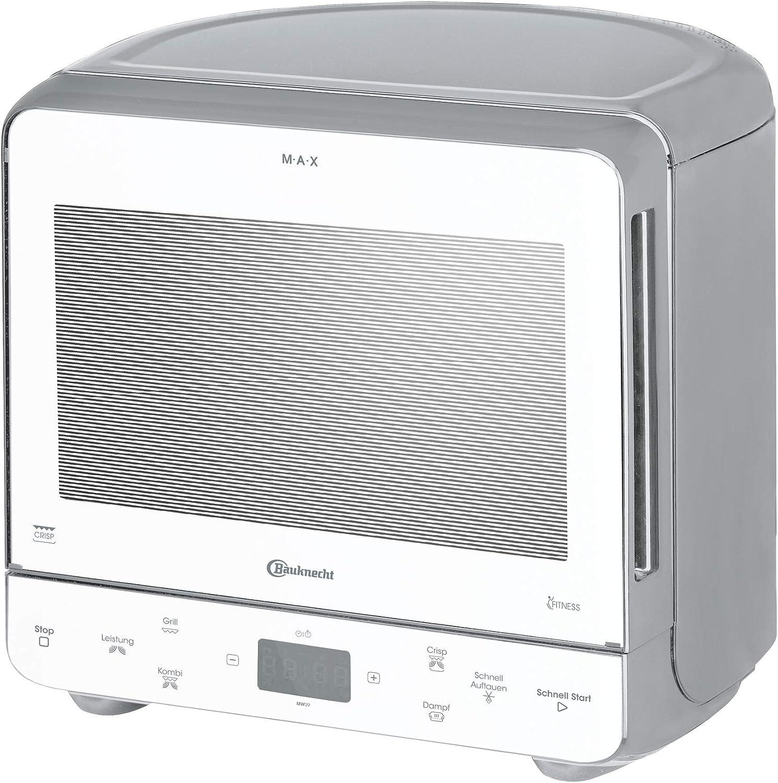 Bauknecht MW 39 WSL - Combinación de parrilla y microondas / función Crisp / 700 W / 13 L / Diseño compacto para ahorrar espacio en esquinas, parrilla de 700 W / función de cocción al vapor