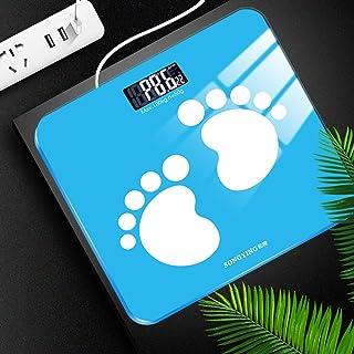 MHBY Báscula de Peso, USB Baño Báscula de Grasa Corporal Báscula Digital del Cuerpo Humano Pantalla de mi Piso Índice Corporal Báscula de Peso electrónica Inteligente Báscula de baño