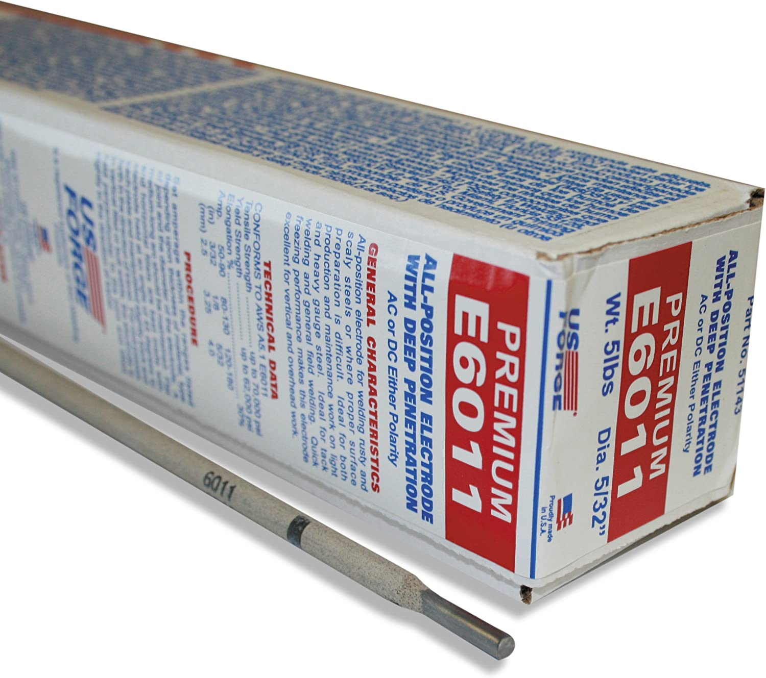 US Forge Welding sold Ranking TOP5 out Electrode E6011 5 14-Inch 5-Pound by Bo 32-Inch