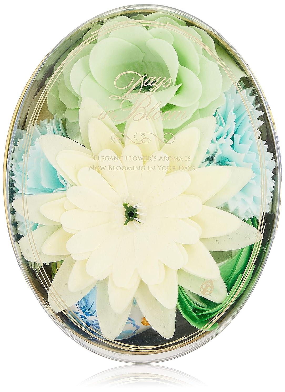 地球天文学争いデイズインブルーム バスセットオーバル ガーデニア (入浴料 お花の形のバスギフト)