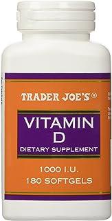 Trader Joe's Vitamine D-3 1000iu, 180softgels