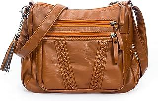 Sponsored Ad - VOLGANIK ROCK Crossbody Bag for Women with Tassel Ladies Soft PU leather Purses and Handbag Pocketbooks