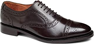 Men's Ford Wingtip Brogue Lace-up Full Grain Leather Dress Formal Wedding Office Shoes Goodyear Welt
