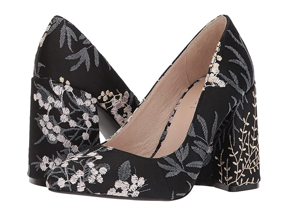 Shellys London Hester (Black Floral) High Heels